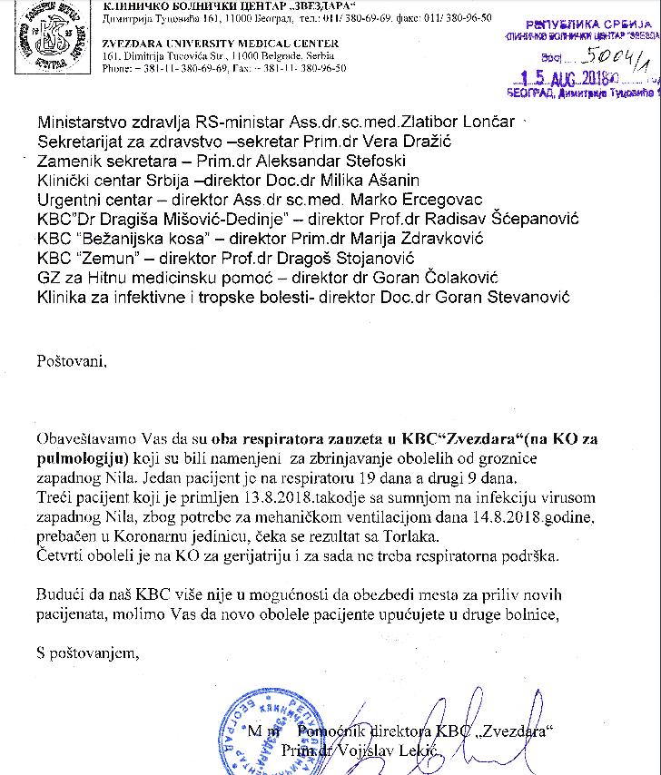 Zauzeti respiratori-KBC Zvezdara:pulmologija
