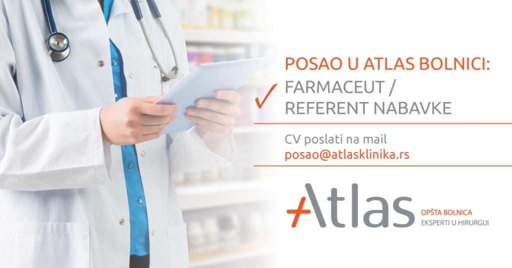 Oglas za posao – Farmaceut / Referent nabavke