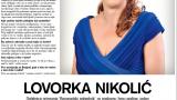 Lovorka Nikolić, Intervju u magazinu Gloria, jun 2015. godina