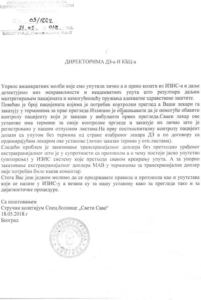 """IZIS-Specijalna bolnica""""Sveti Sava"""""""
