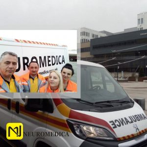 Mедицинскиот тим на Неуромедика постави нов рекорд на успешно обавен санитетски транспорт на пациент од болницата  St. Pölten – Австрија до Скопје!