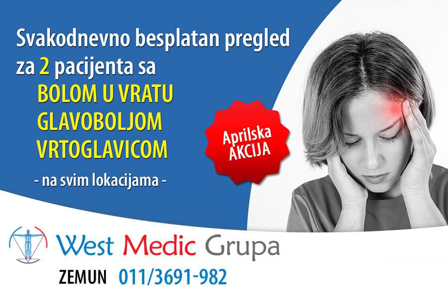 Aprilska akcija: Svakodnevno besplatan pregled za 2 pacijenta